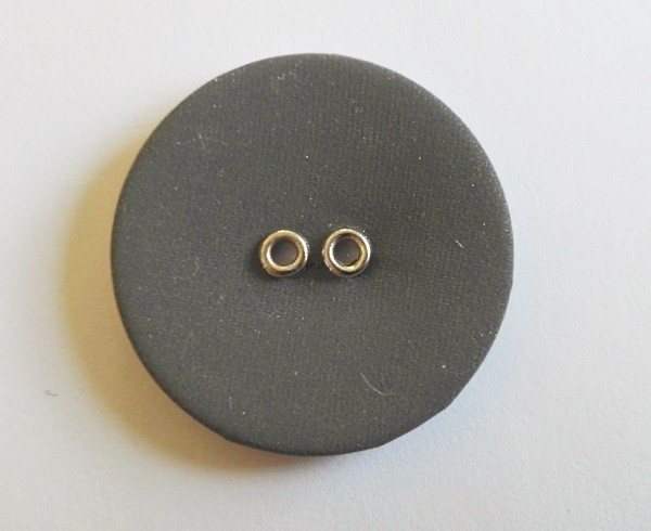 reflektierender, runder Knopf, 18 mm, grau