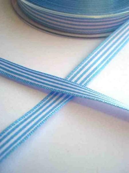 Stoffband, hellblau gestreift, 10 mm