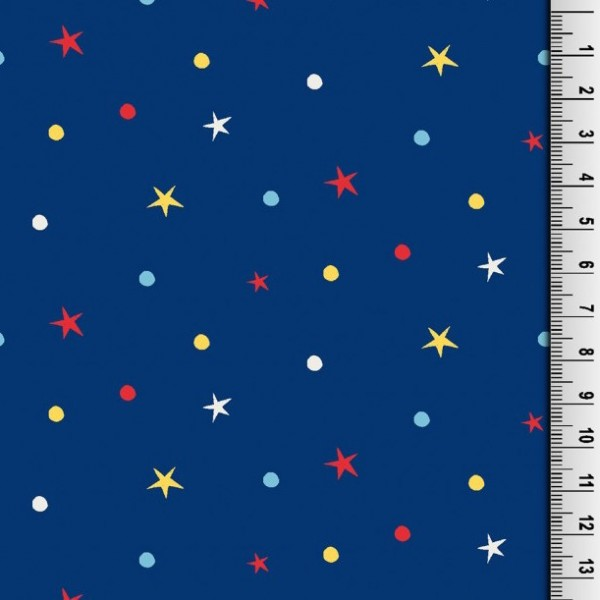Punkte&Sterne dunkelblau, Jersey