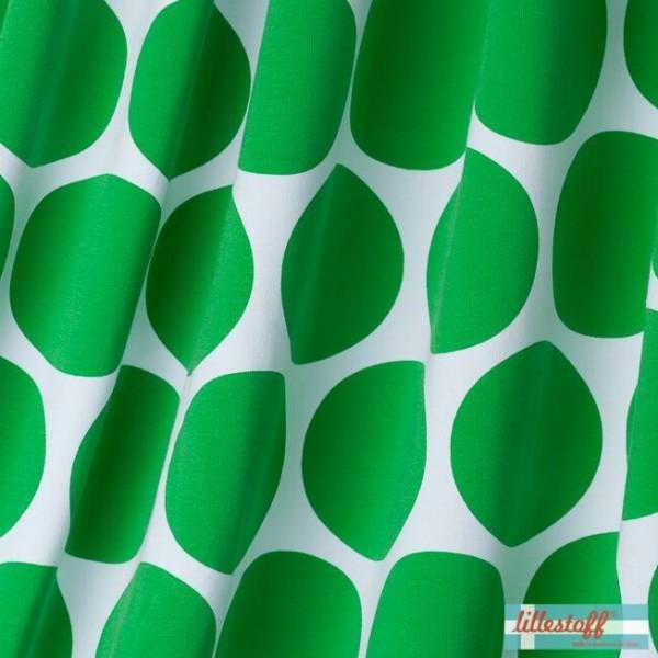 lillestoff Bio-Jersey, Lorenzo Riesenpunkte, weiß/grün