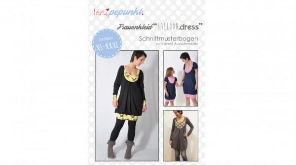 Frauenkleid BALLOON.dress, lenipepunkt Schnittmuster