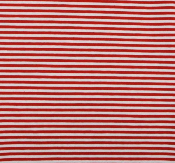 Streifenjersey schmal rot-weiß