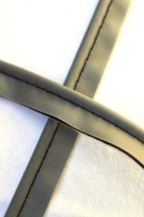 Paspel mit Kunsstoffbezug, schwarz