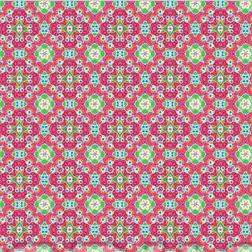 Zalipie Zaza pink-lime, Webstoff, waschbar bei 60°