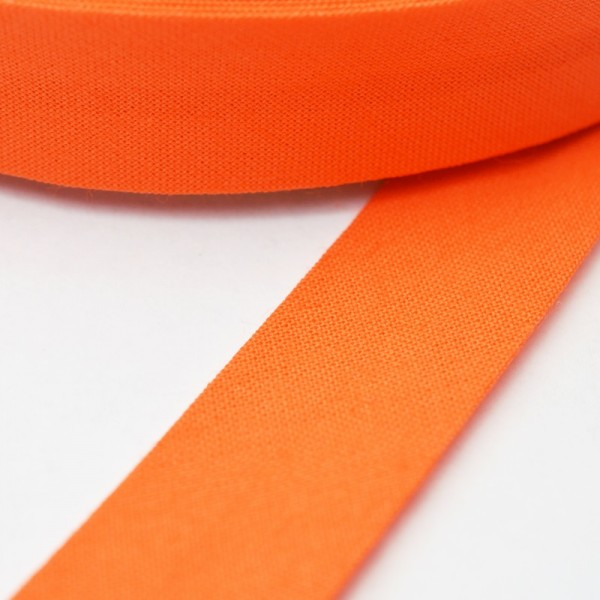 Schrägband, 20 mm, dunkles orange