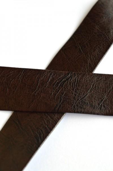 Einfassband Kunstleder, 25 mm, dunkelbraun