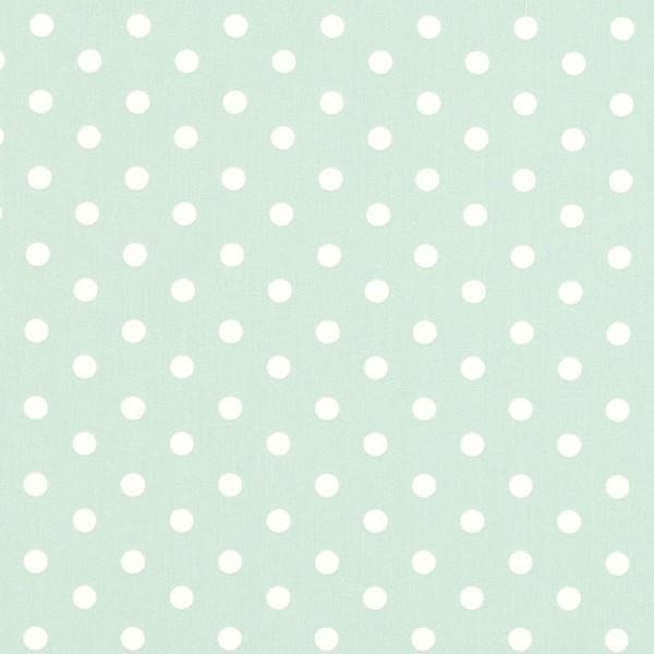 Lili Punkte mittel, helles mint, Webstoff, waschbar bei 60°