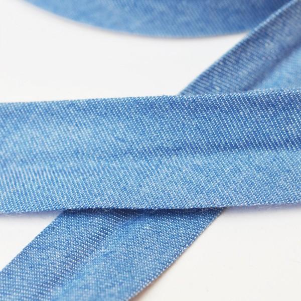 Schrägband, jeansblau hell