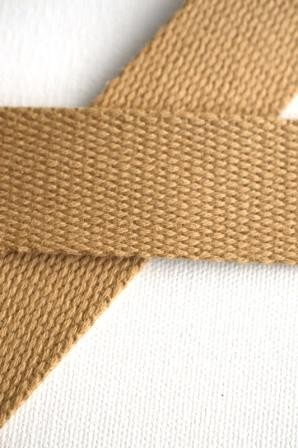 Baumwollgurtband, hellbraun, 2,5 cm