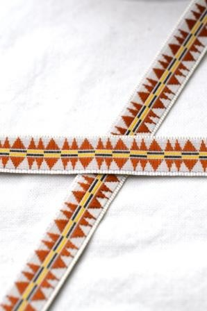 Indigene, braun Webband