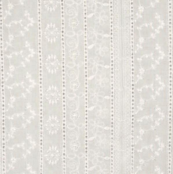 Top-Baumwollspitze Blütenstreifen offwhite