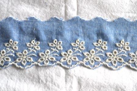 Stoffspitze, helles jeansblau, 60 mm
