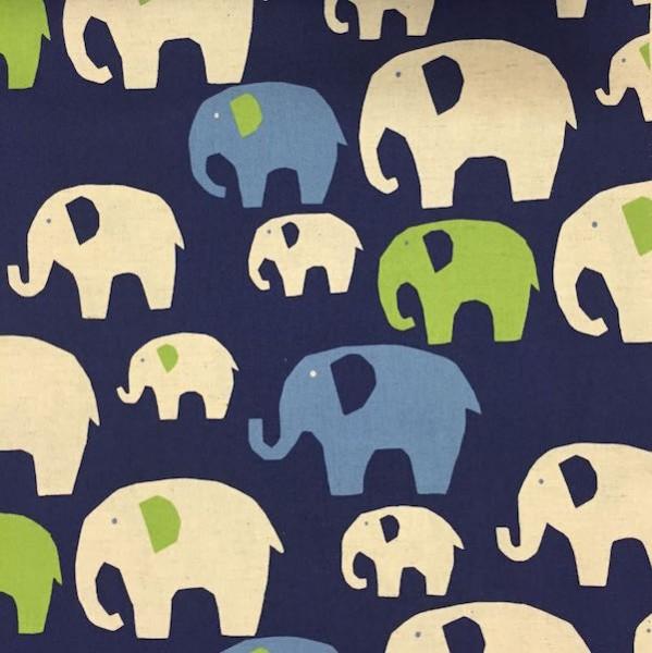 KOKKA, Elefanten auf blau, Canvas, *SALE*