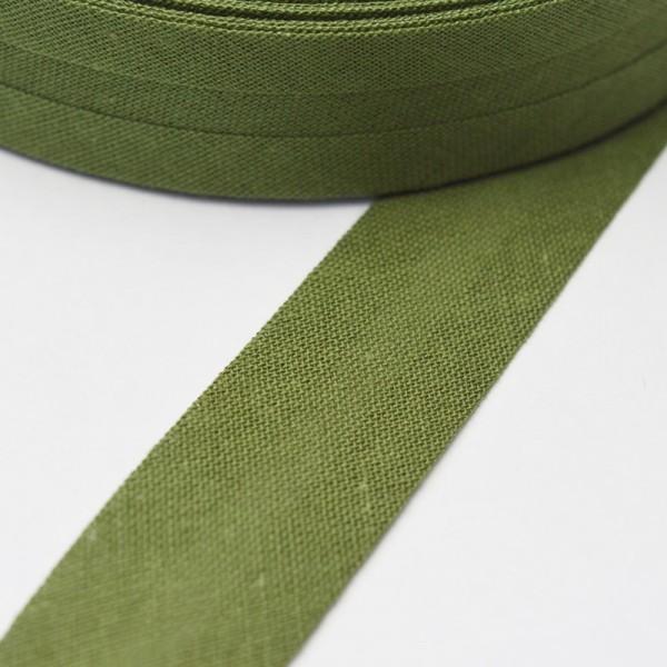 Schrägband, 20 mm, dunkles oliv