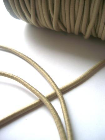 Gummischnur, 3 mm, beige