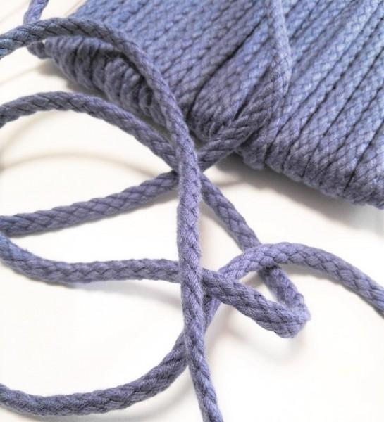 Flechtkordel, 6 mm, jeansblau