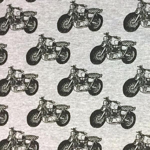 Kuschelsweat Motorräder, grau-meliert