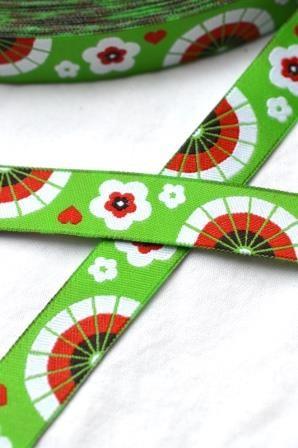 Little Geishas, grün, Webband