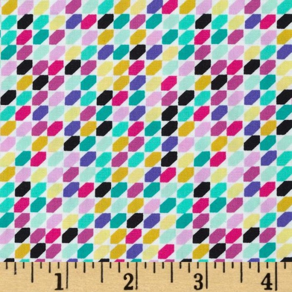 Art Gallery Geometric Bliss, Tessellate Huckleberries, Webstoff