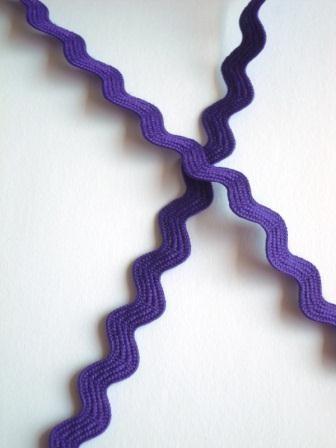 Zackenlitze 8 mm, dunkles violett