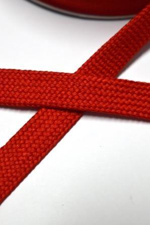 breite Kordel, 15 mm, rot