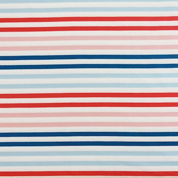 Modal-Jersey, Stripes senf/grau