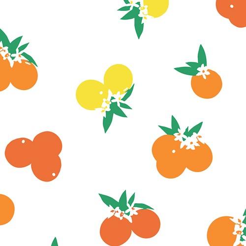Art Gallery, Citrus Sunrise weiß, Baumwollstoff