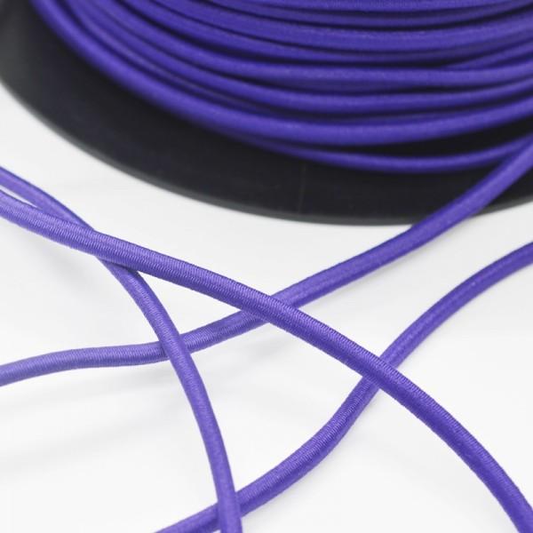 Gummischnur, 3 mm, dunkles violett