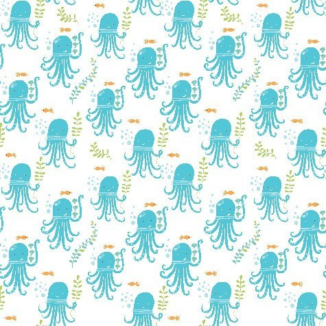 Monaluna, Under the Sea, Octopus Party, Bio-Webstoff