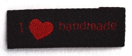 I love handmade, einfach, schwarz, Webetikett