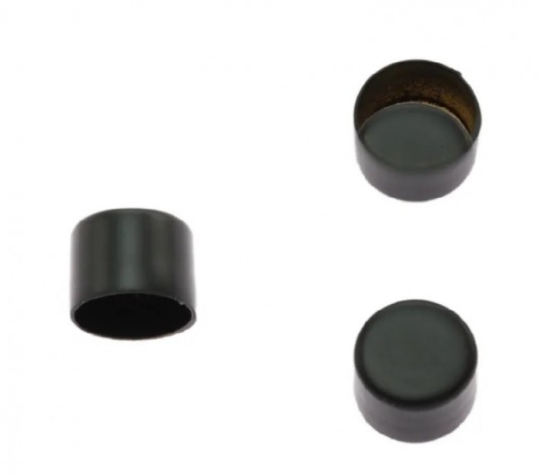 Kordelendkappe, schwarz, 6 mm