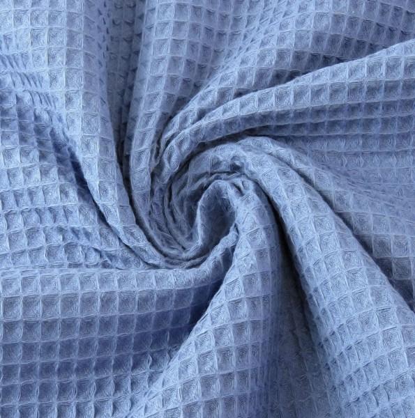 Waffelpique, helles jeansblau