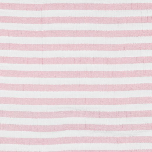 Double Gauze/Musselin, Stripes rosa