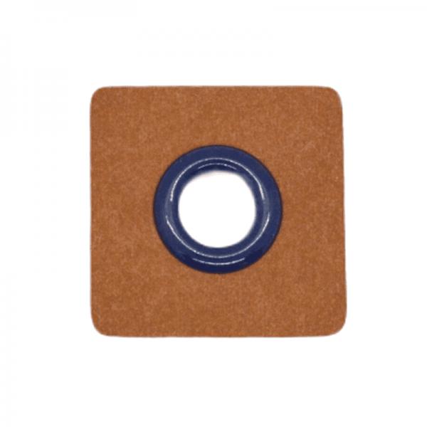 SnapPap Ösenpatch, Quadrat, dunkelblau