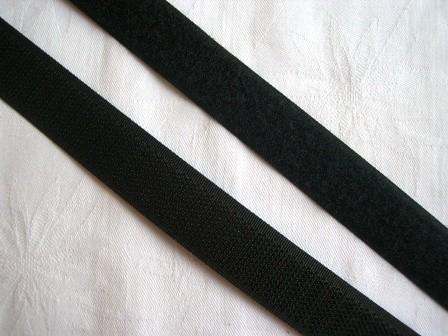 Klettverschluss, 20 mm, schwarz