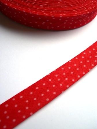 Westfalen Schrägband, rot mit rosa Punkten