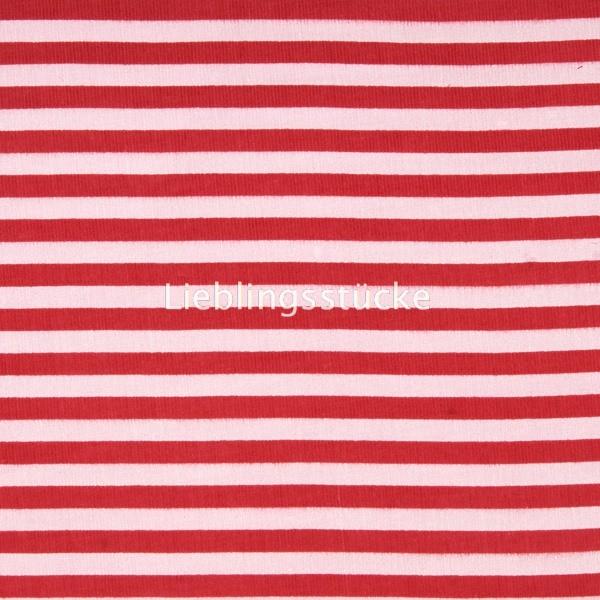 Feincord, Streifen rot-rosa, *Letztes Stück ca. 100 cm*