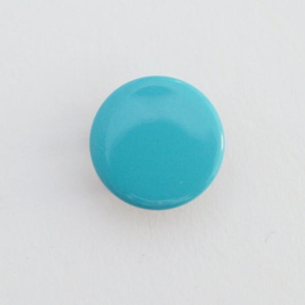 Druckknopf, türkis, 10 mm