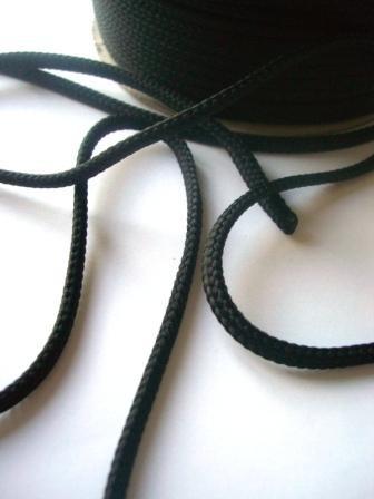 Schnur, 4 mm, schwarz
