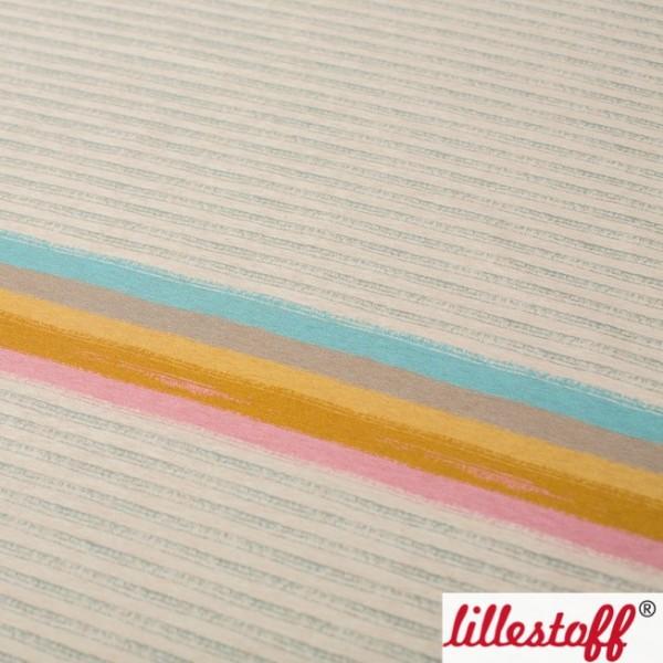 lillestoff, Miniregenbogenstreifen, beige-meliert, Jersey Paneel