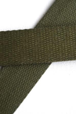 Baumwollgurtband, khaki, 3 cm