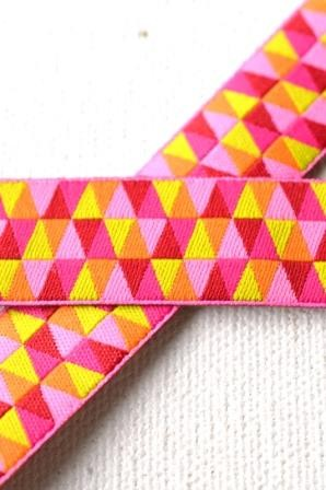 Triangle Small, pink, Webband