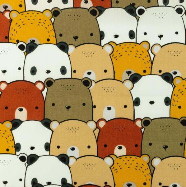 Baumwollpopeline Bärenparade