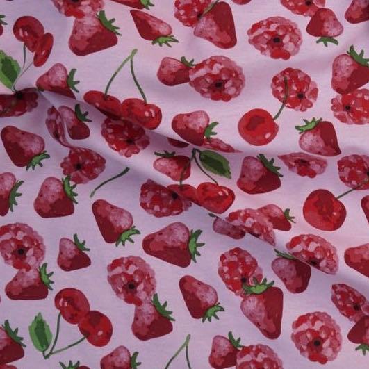 Berrys auf rosa, Dekostoff