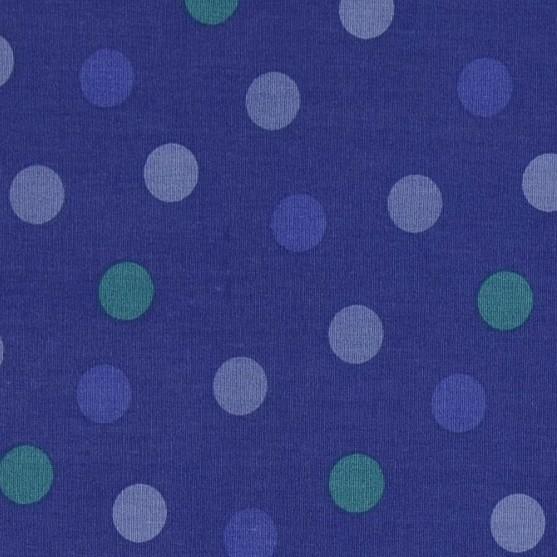 Lina Punkte auf blau, Webstoff