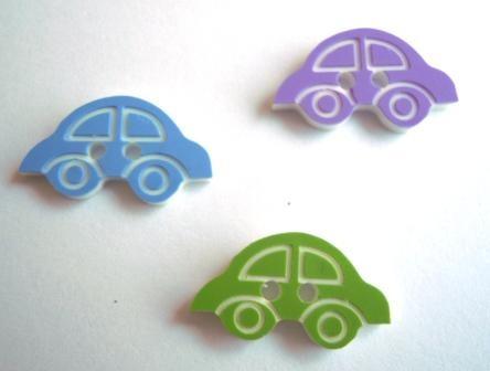 Auto, blau, violett oder grün, Knopf