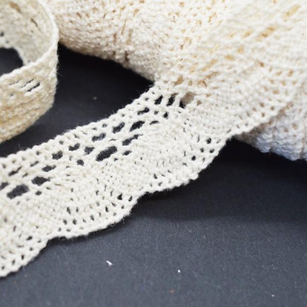 Klöppelspitze aus Baumwolle, creme, Gerti, 20 mm