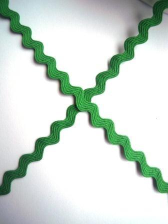 Zackenlitze 8 mm, grün