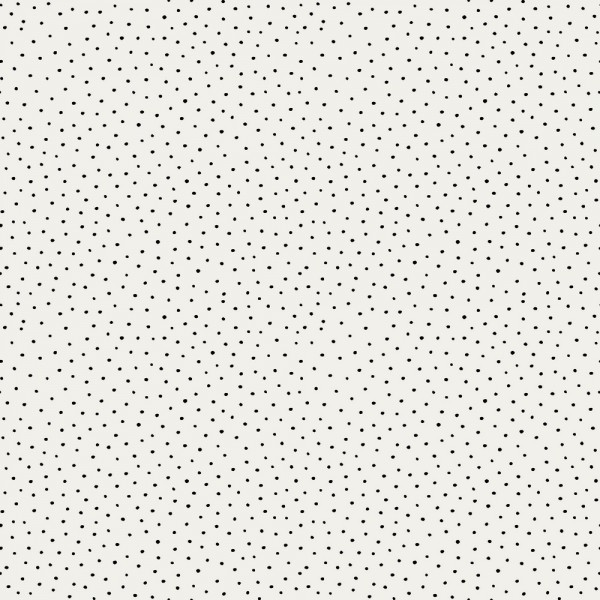 Cotton Slub Washed Punkterl auf weiß, Baumwollstof