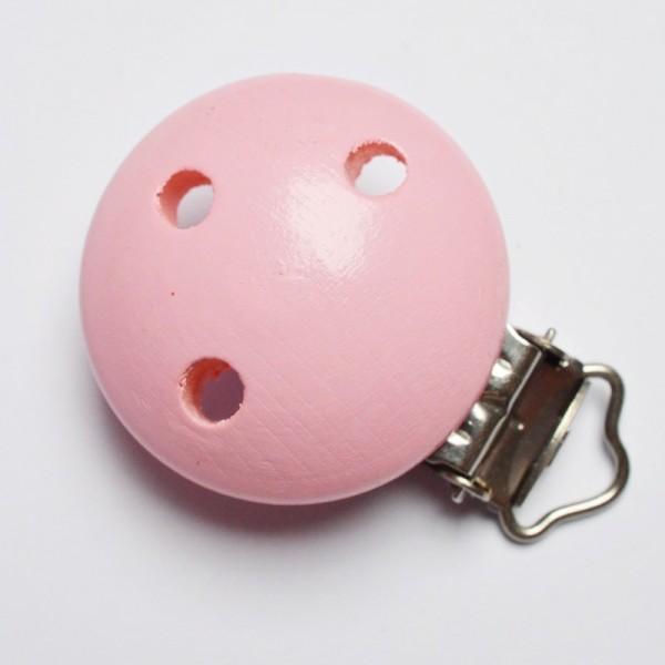 Holzclip für Schnullerbänder - Österreichische Produktion!, rosa